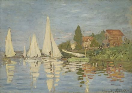 Monet, Claude: Regatta at Argenteuil. Sailing Boat Scene. Fine Art Print.  (003220)